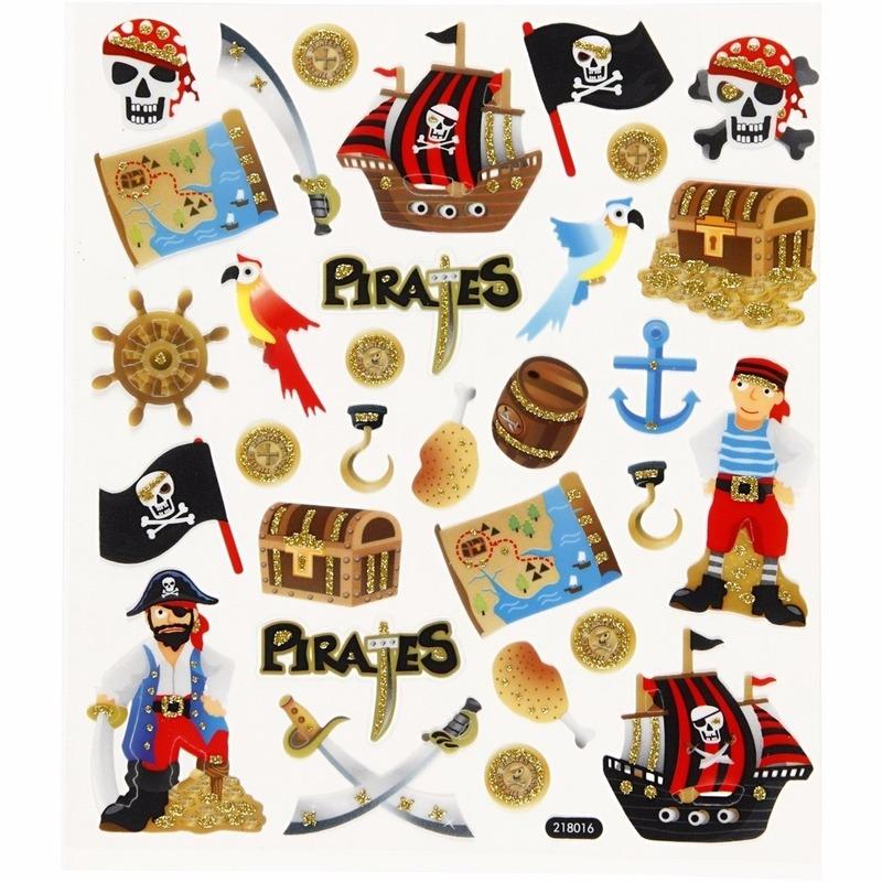Kinder agenda stickers piraten