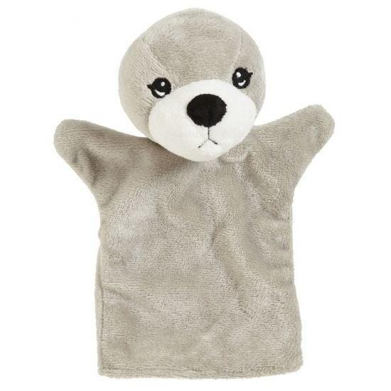 Kinder handpoppen zeehond 22 cm