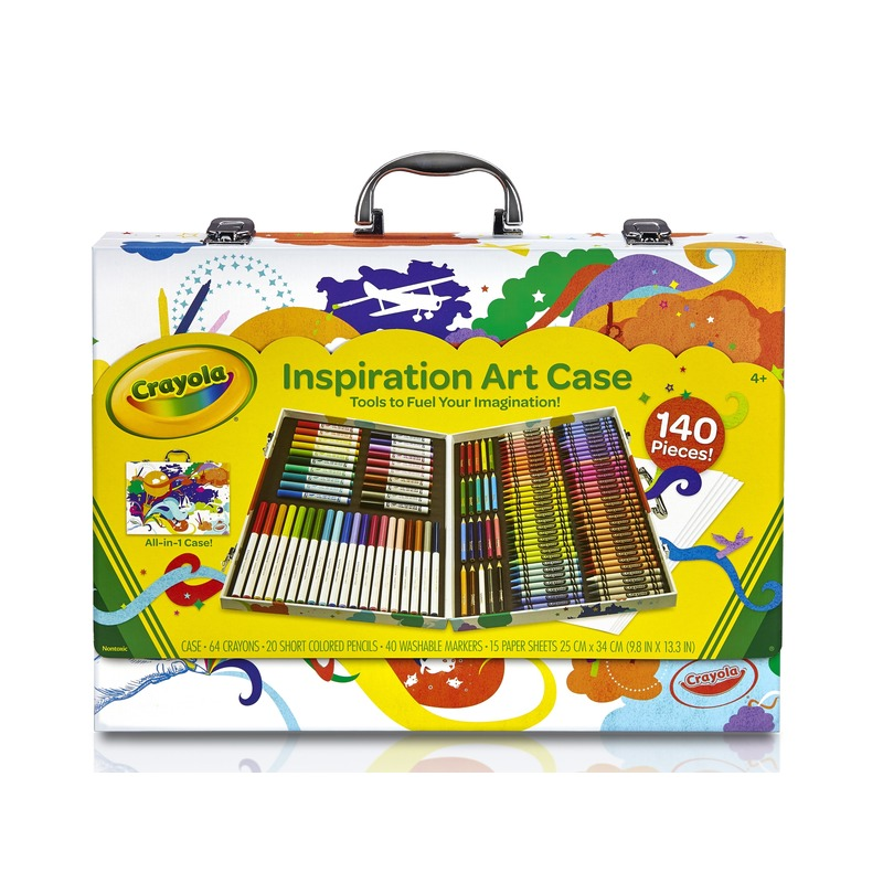 Kinder kleurtjes set in koffer 140-delig