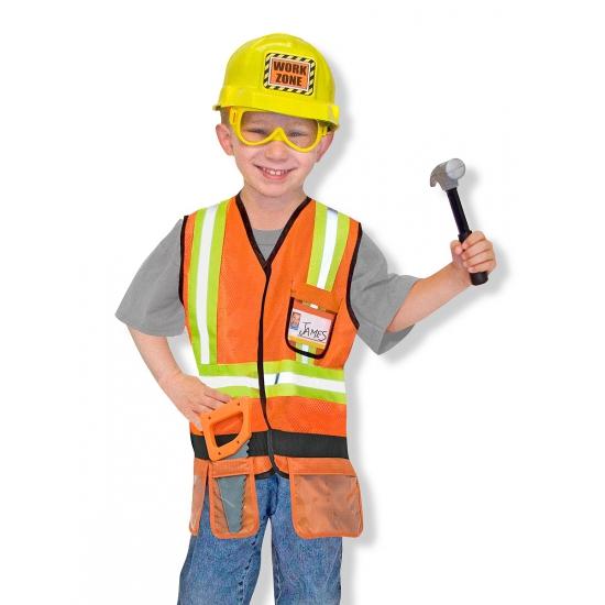 Kinder kostuum bouwvakker