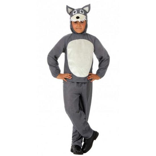Kinder kostuum grijs wolfje