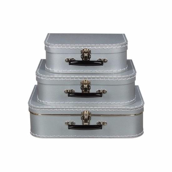 Kinderkoffertje zilver 25 cm