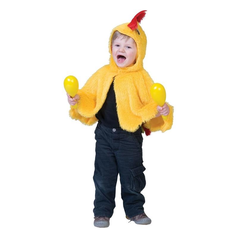 Kip/haan verkleed cape voor babys/peuters