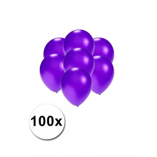 Kleine ballonnen paars metallic 100x stuks