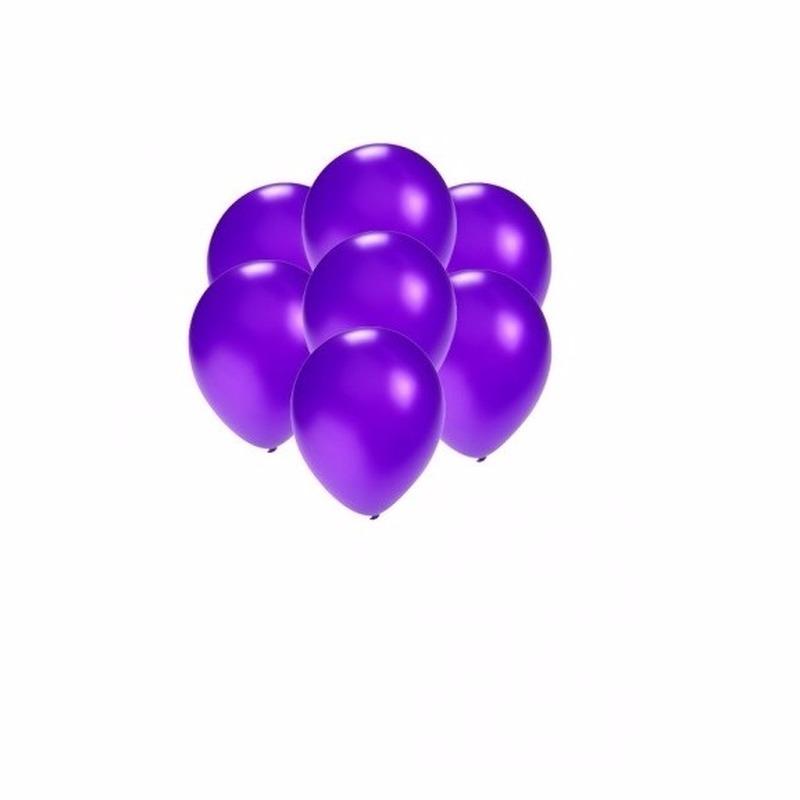 Kleine ballonnen paars metallic 200x stuks
