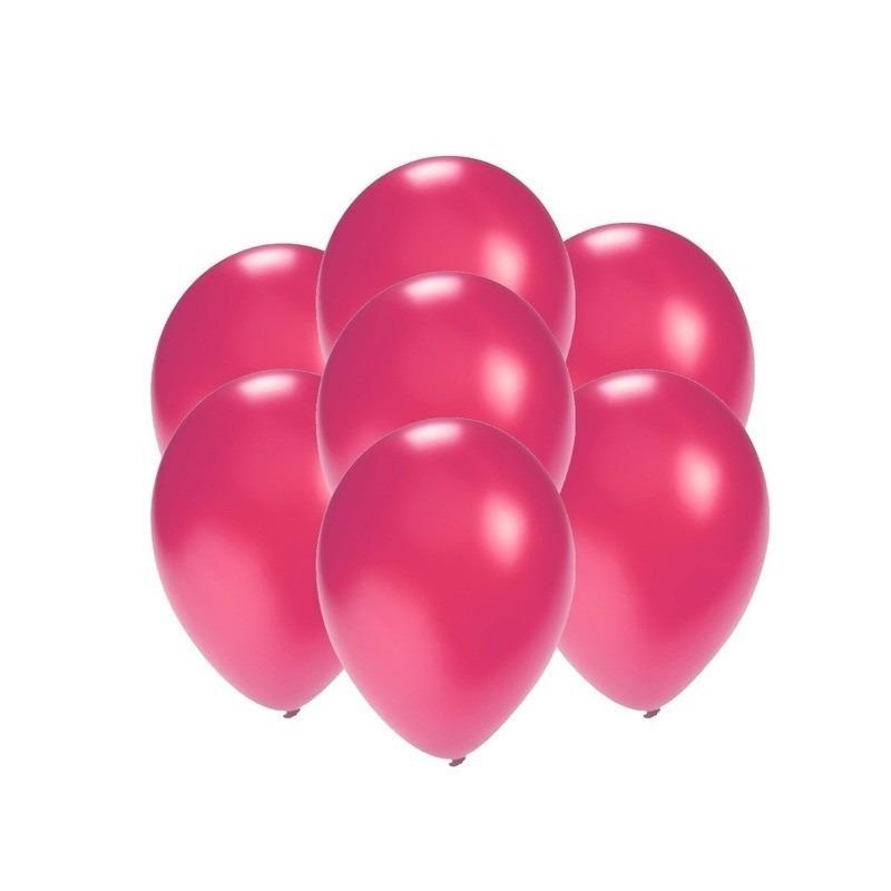 Kleine ballonnen roze metallic 200 stuks