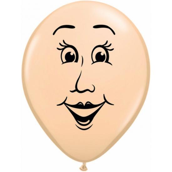 Kleine ballonnen van een vrouwen gezicht 13 cm