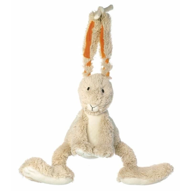 Knuffel konijn muziekdoos 26 cm
