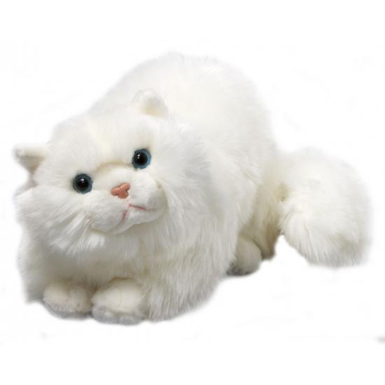 Knuffel Perzische witte poes van 30 cm