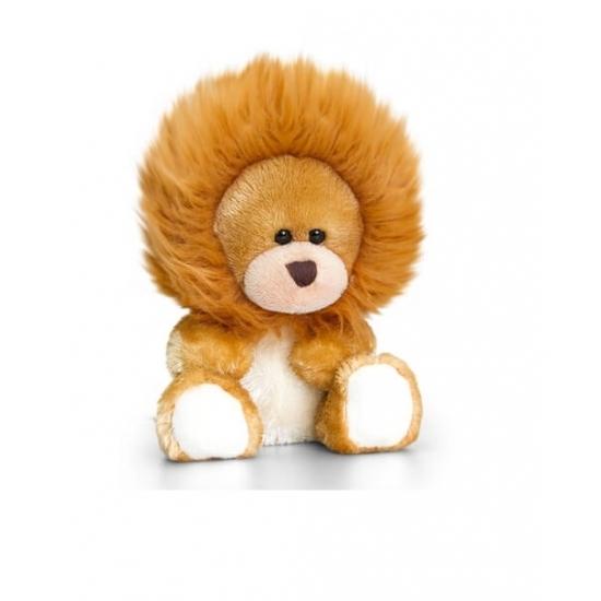 Knuffelbeer in leeuwen vermomming 14 cm