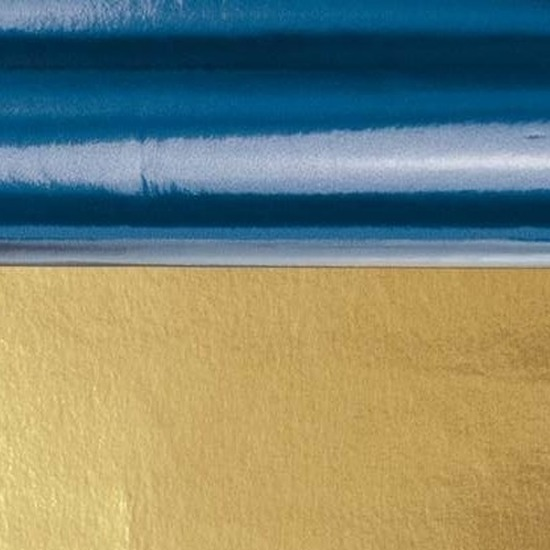 Knutsel folie blauw/goud 50 x 80 cm