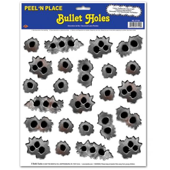 Kogelgaten fun stickers 24 stuks