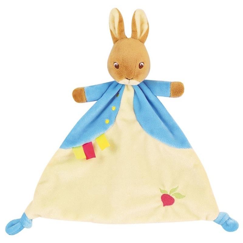 Konijnen/hazen speelgoed artikelen tuttel/knuffeldoek knuffelbeest 29 cm