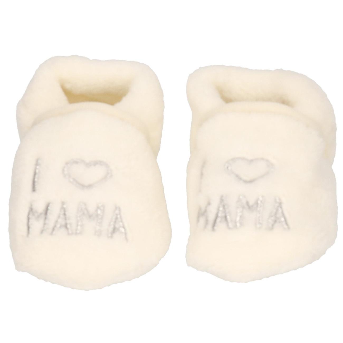 Kraamkadootjes jongens/meisjes sloffen I love mama