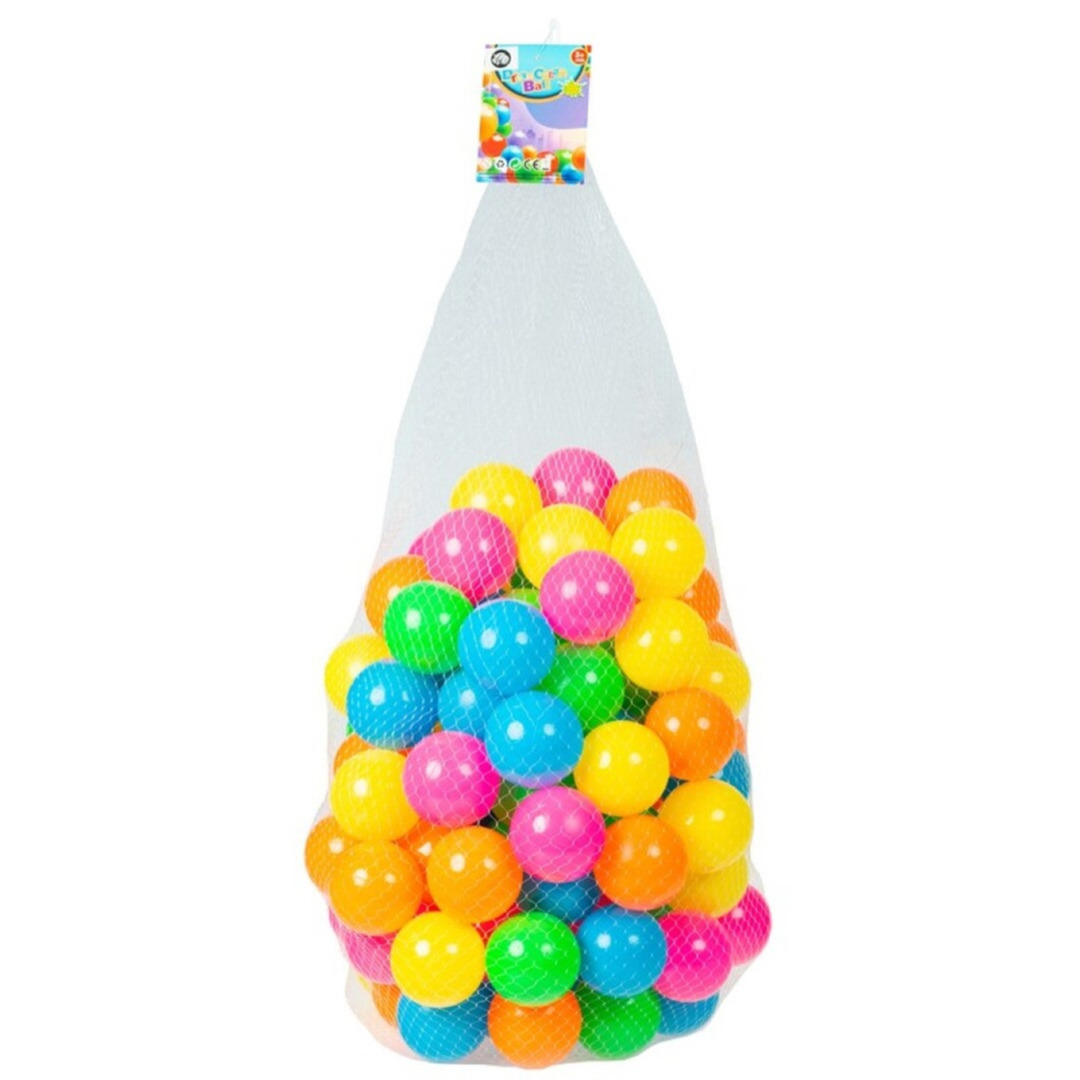 Kunststof ballenbak ballen 100x stuks 6 cm neon kleuren