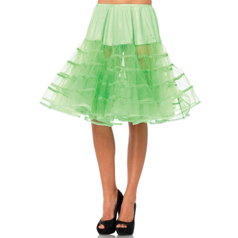 Lange neon groene 50s onderrok voor dames