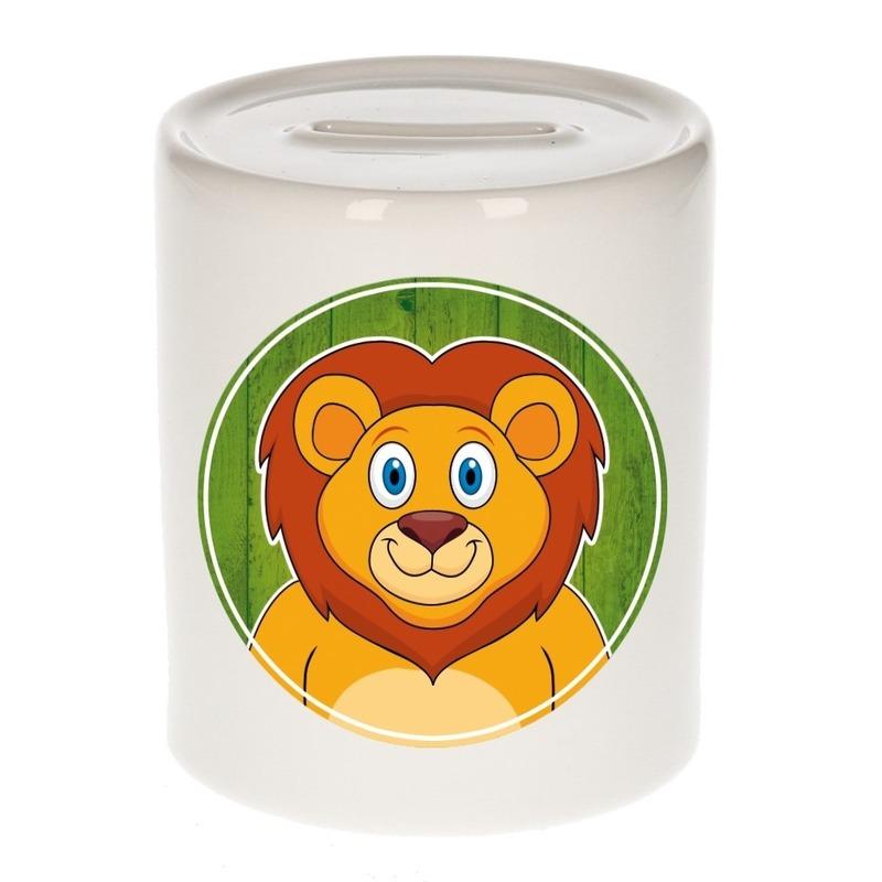 Leeuw kado spaarpot voor kinderen 9 cm