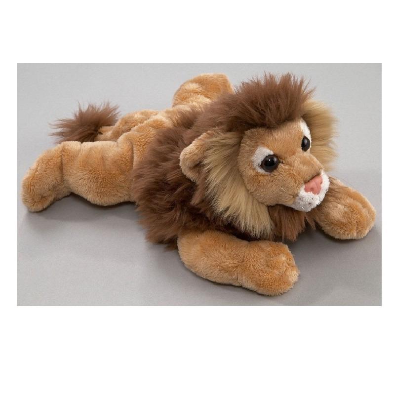 Leeuwen speelgoed artikelen leeuw knuffelbeest bruin 24 cm