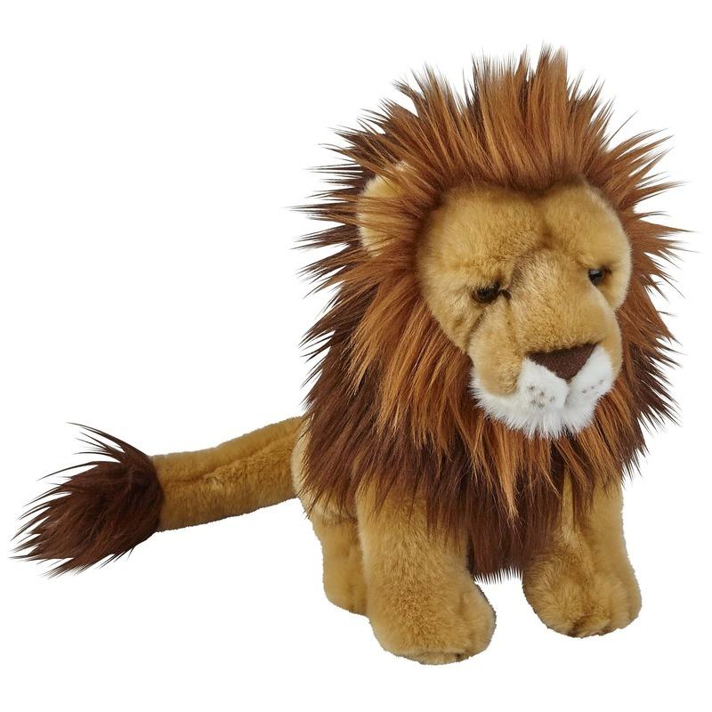 Leeuwen speelgoed artikelen leeuw knuffelbeest bruin 28 cm