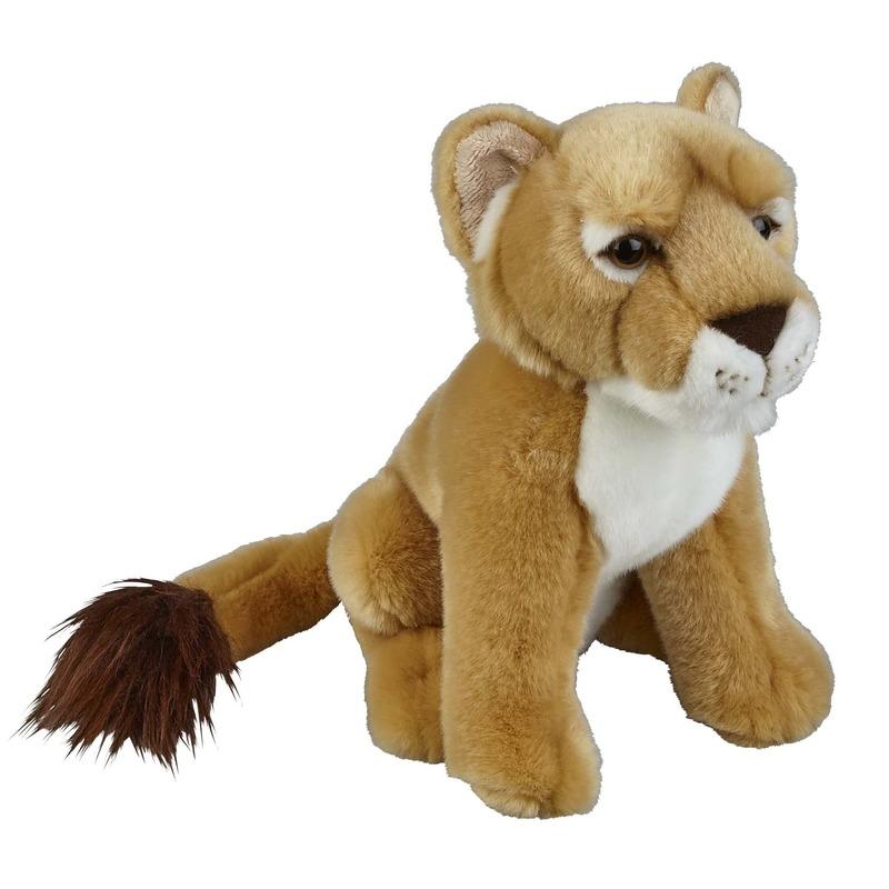 Leeuwinnen speelgoed artikelen leeuwin knuffelbeest bruin 28 cm
