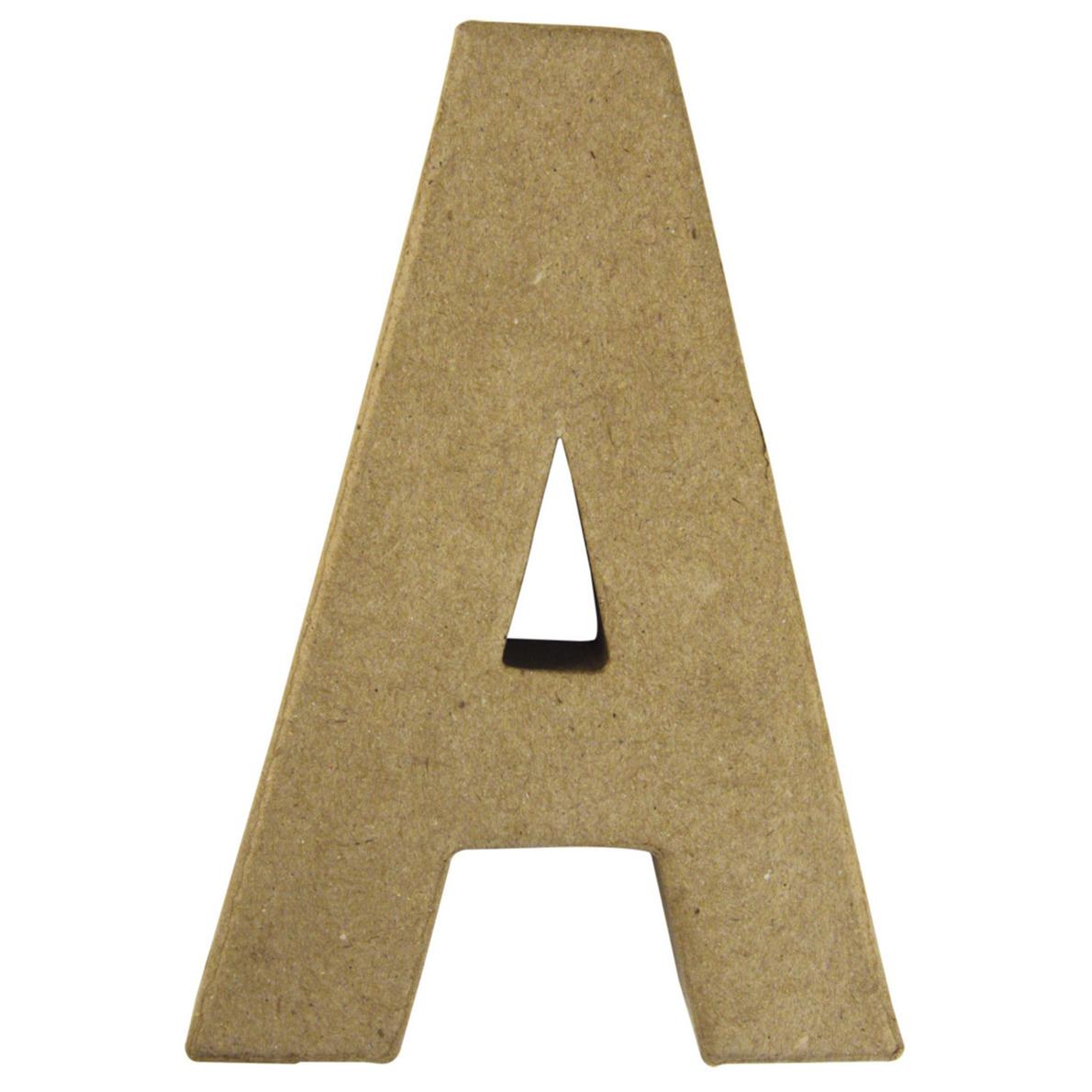 Letter A van papier mache onbeschilderd