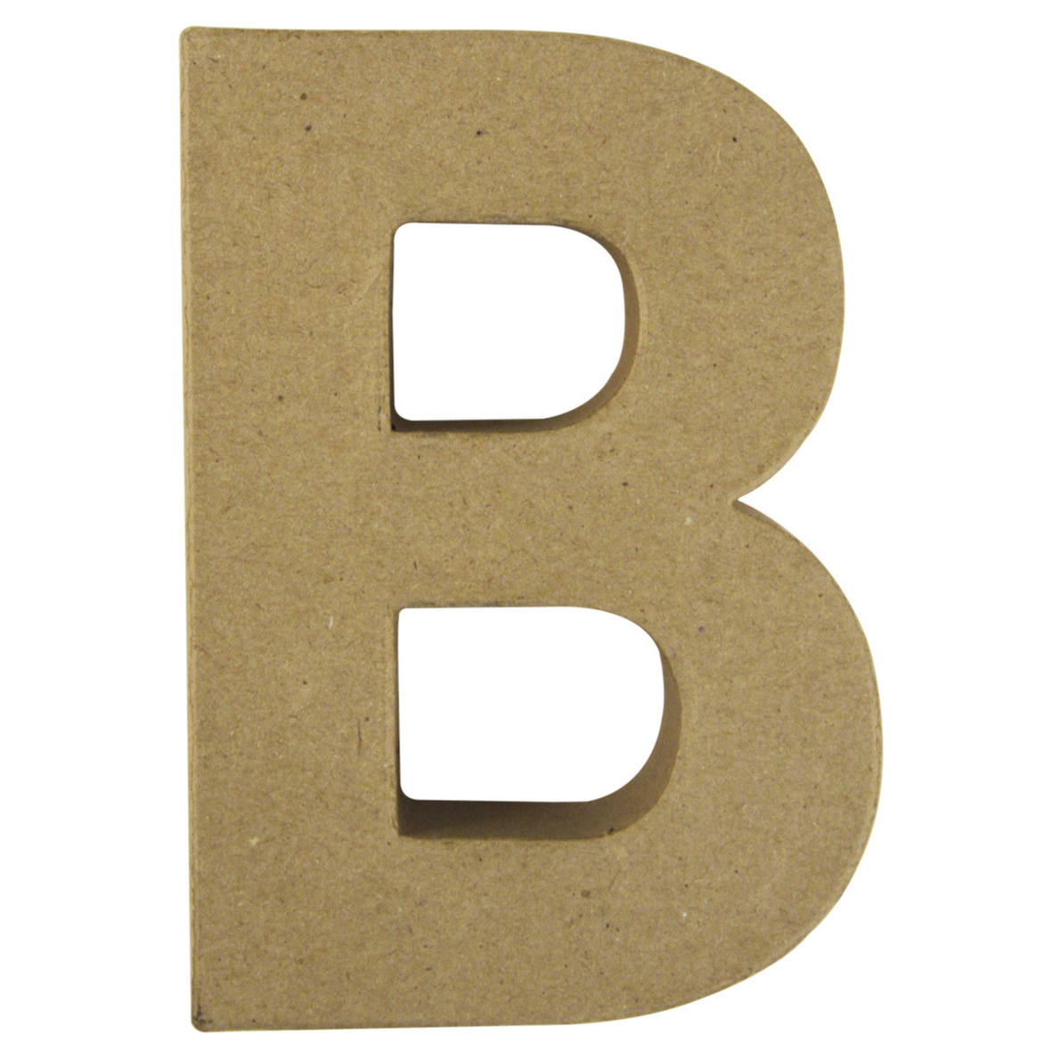 Letter B van papier mache onbeschilderd