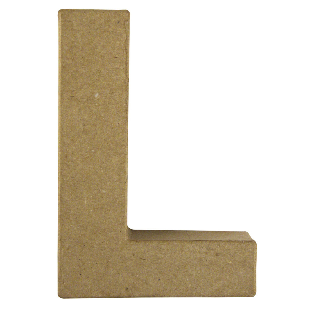 Letter L van papier mache onbeschilderd