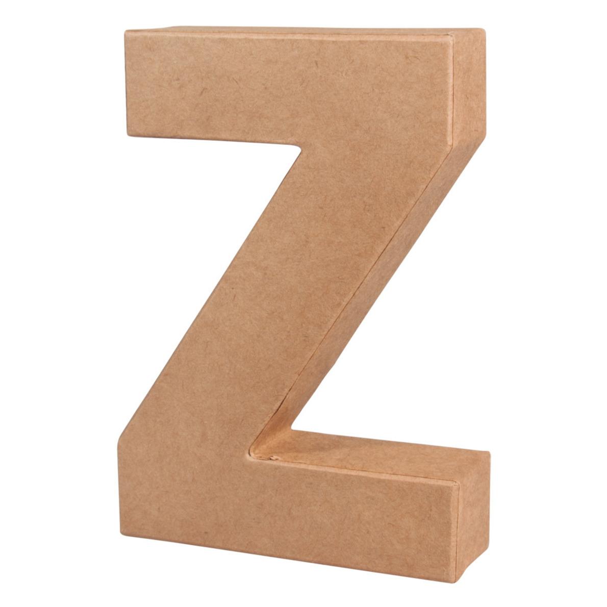 Letter Z van papier mache onbeschilderd