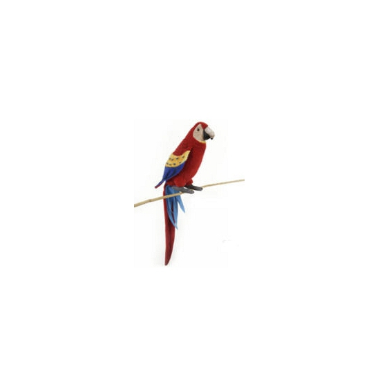 Levensechte Hansa pluche Ara papegaai knuffel rood 72 cm
