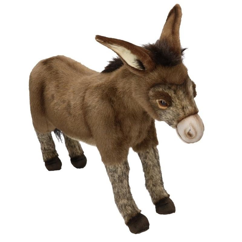 Levensechte Hansa pluche ezel knuffel 41 cm