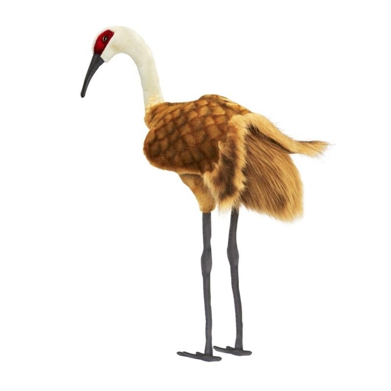 Levensechte Hansa pluche knuffel kraanvogel 75 cm