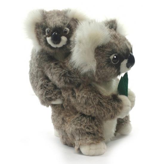 Levensechte Hansa pluche koala knuffel met baby 28 cm