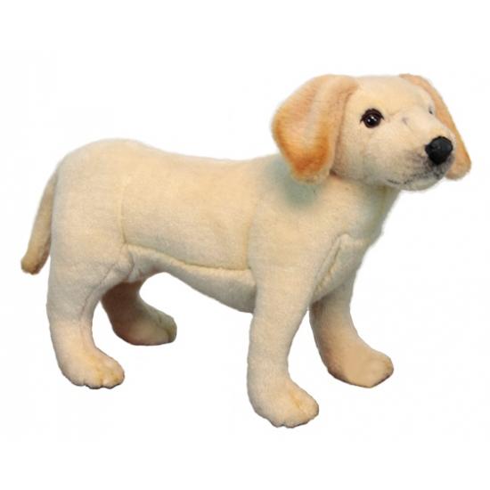 Levensechte Hansa pluche Labrador pup knuffel 35 cm