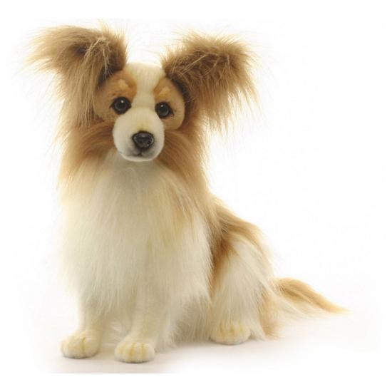Levensechte Hansa pluche papillon hond knuffel 41 cm