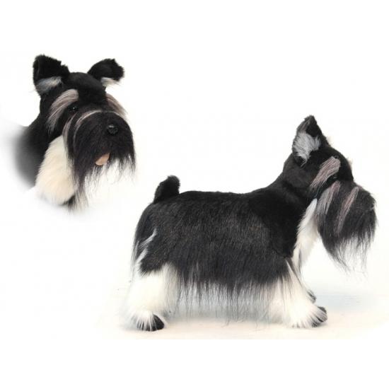 Levensechte Hansa pluche Schnauzer hond knuffel 45 cm