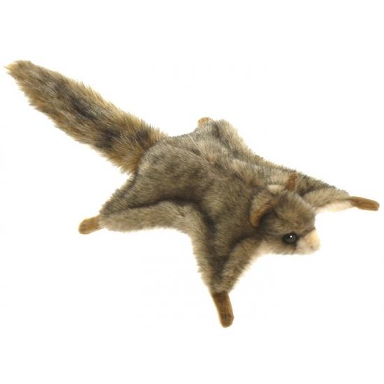 Levensechte Hansa pluche vliegende eekhoorn knuffel 21 cm