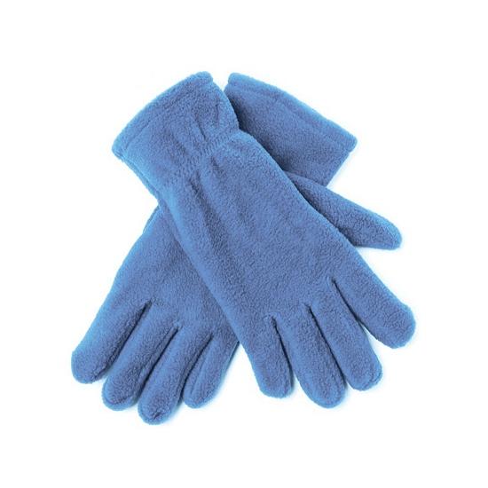 Lichtblauwe fleece handschoenen