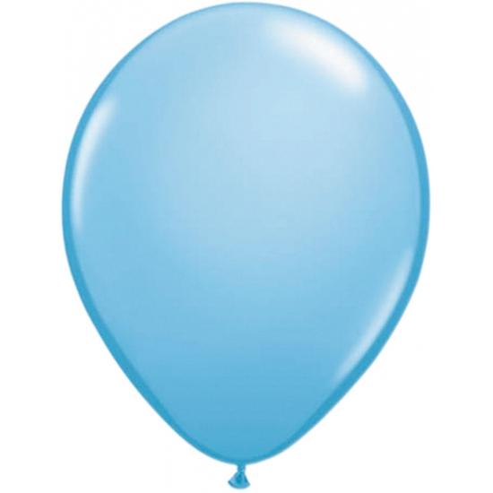 Lichtblauwe helium ballonnen 50 stuks