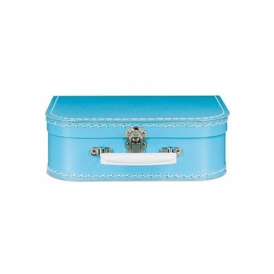 Logeerkoffertje lichtblauw 25 cm