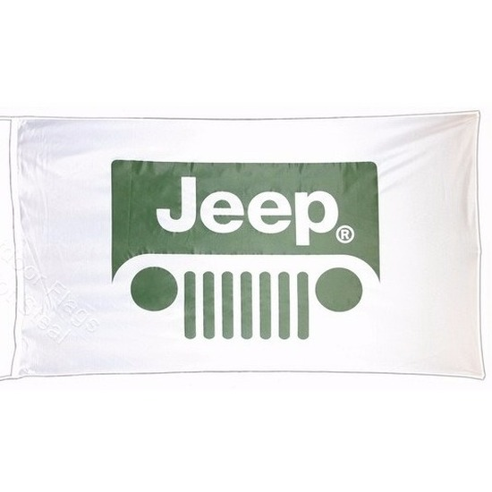 Logo vlag Jeep 150 x 90 cm