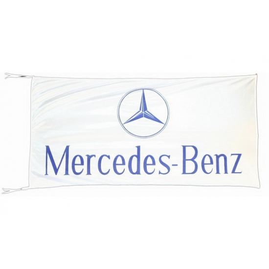 Logo vlag Mercedes 150 x 75 cm