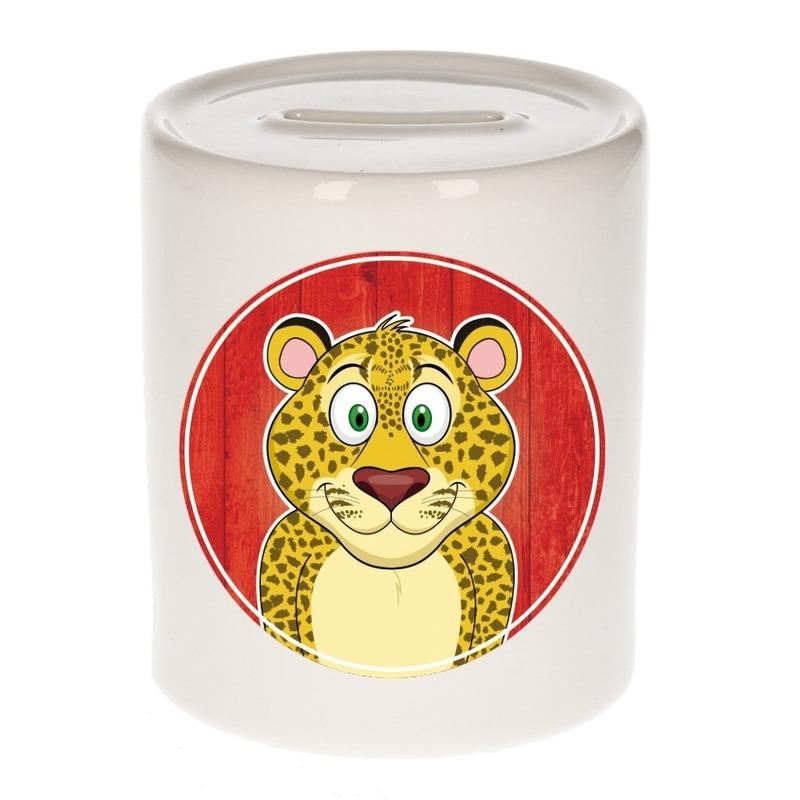 Luipaard - panter kado spaarpot voor kinderen 9 cm