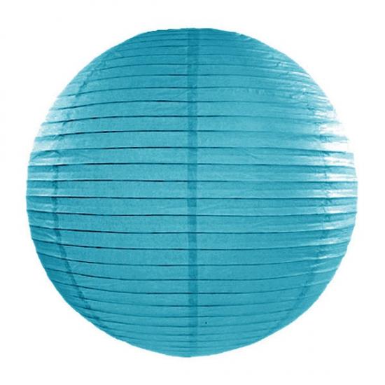 Luxe bol lampionnen turquoise blauw 35 cm