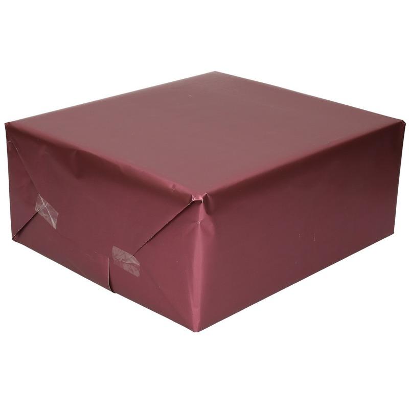 Luxe inpakpapier/cadeaupapier paars zijdeglans 150 x 70 cm