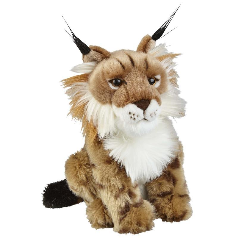 Lynxen speelgoed artikelen lynx knuffelbeest bruin 28 cm