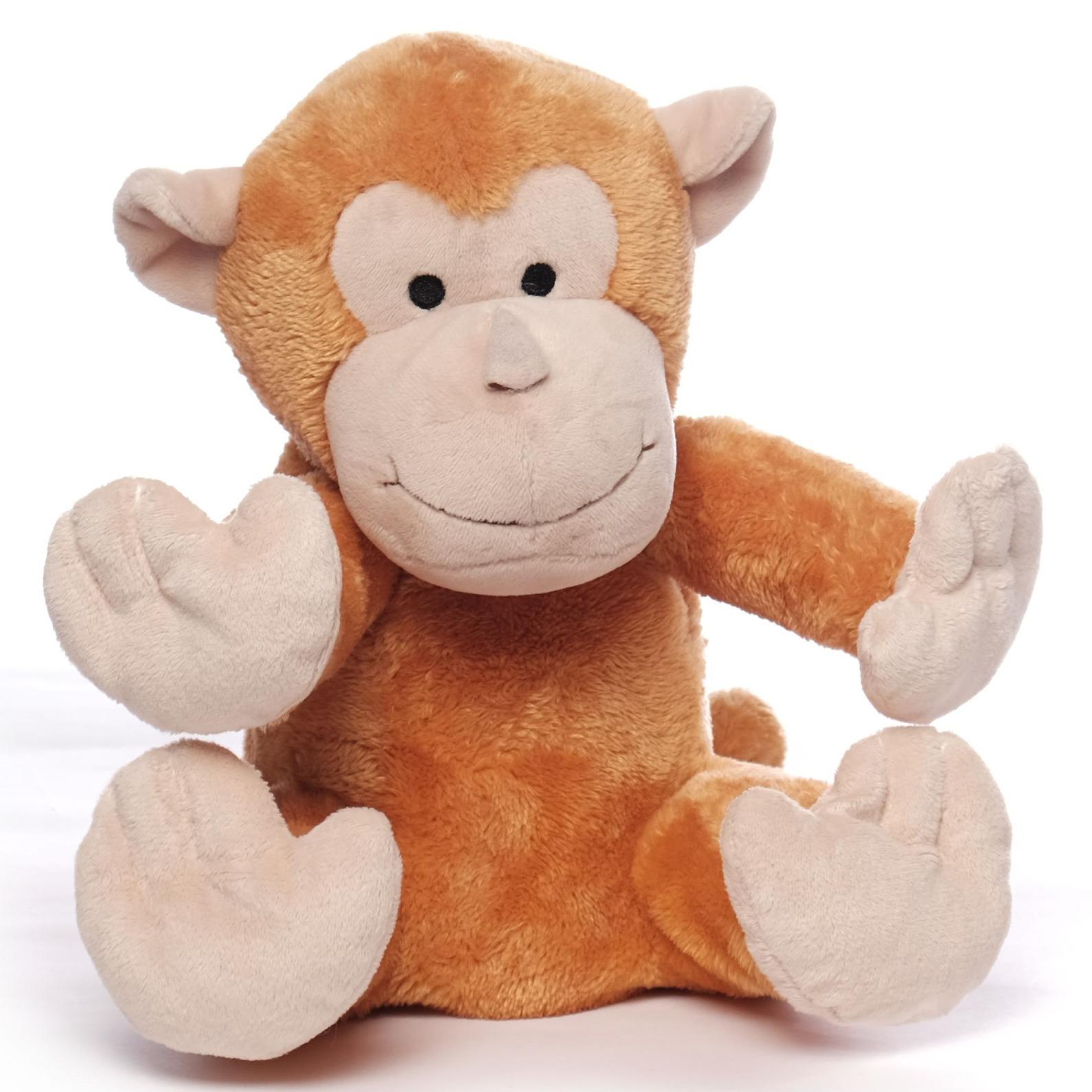 Magnetron warmte knuffel orang oetan aap bruin 26 cm
