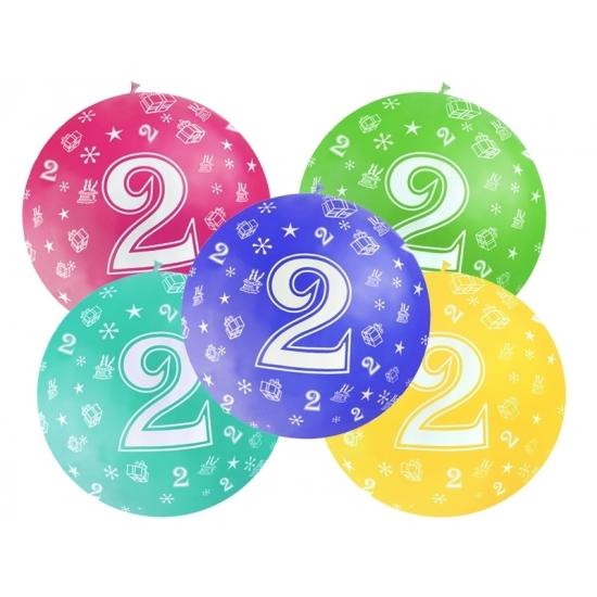Mega ballon 2 jaar feestartikelen van 92 cm diameter