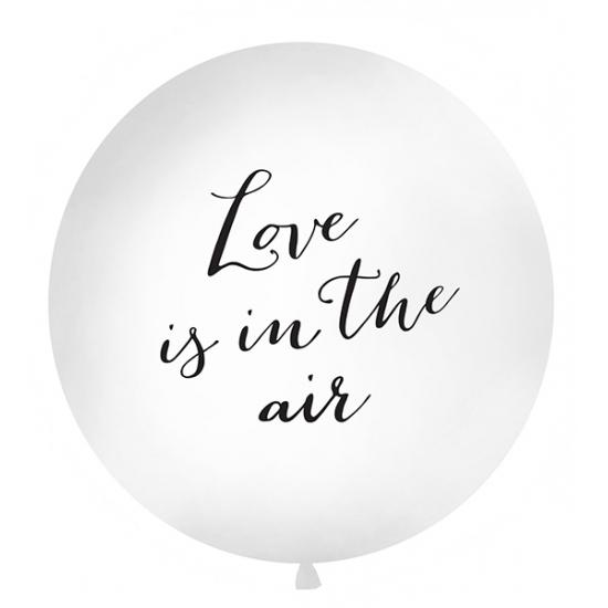 Mega ballonnen wit met Love is in the air tekst