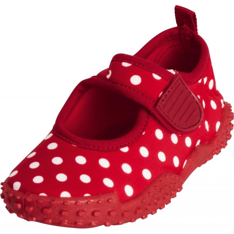 Meisjes waterschoenen rood met stippen