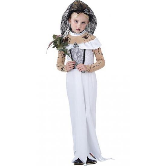 Meisjes zombie bruidsjurk